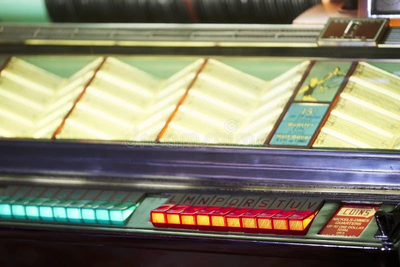 Szafa grająca rocznika Seeburg Dokumentacyjnego gracza kolekcji Retro Muzyczna wystawa zdjęcia stock