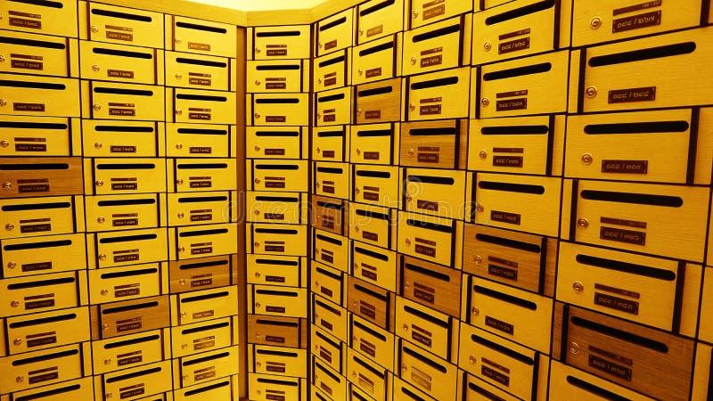 Szafki poczta skrzynka pocztowa lub pudełko obraz royalty free