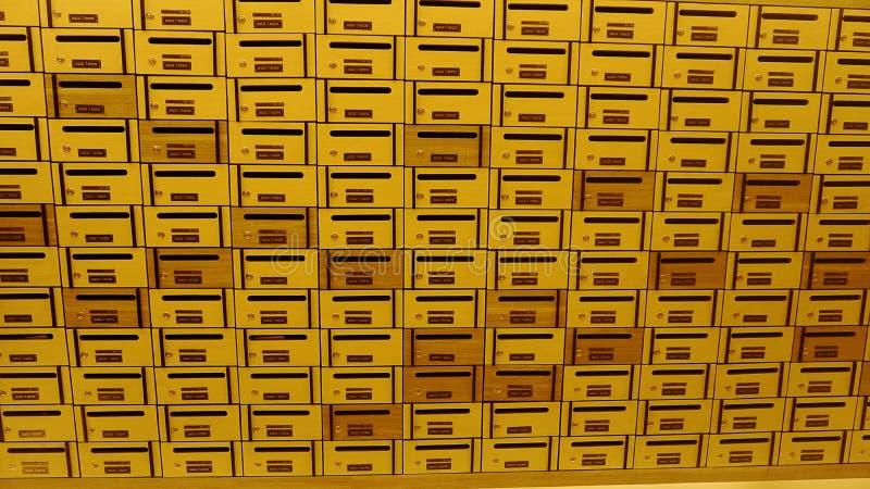 Szafki poczta skrzynka pocztowa lub pudełko zdjęcie stock