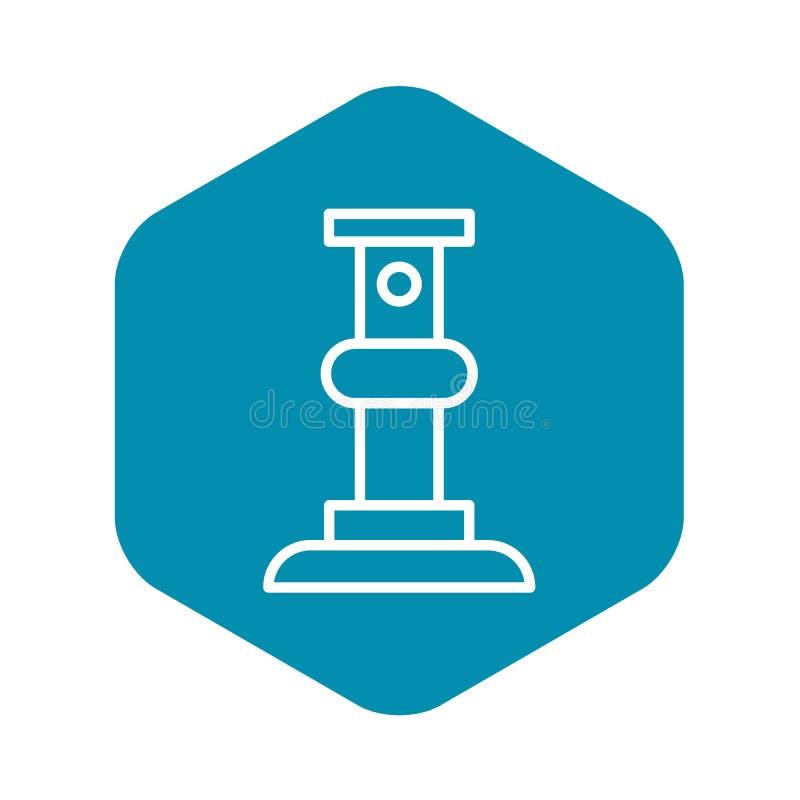 Szafotu poparcia baru ikona, konturu styl ilustracja wektor