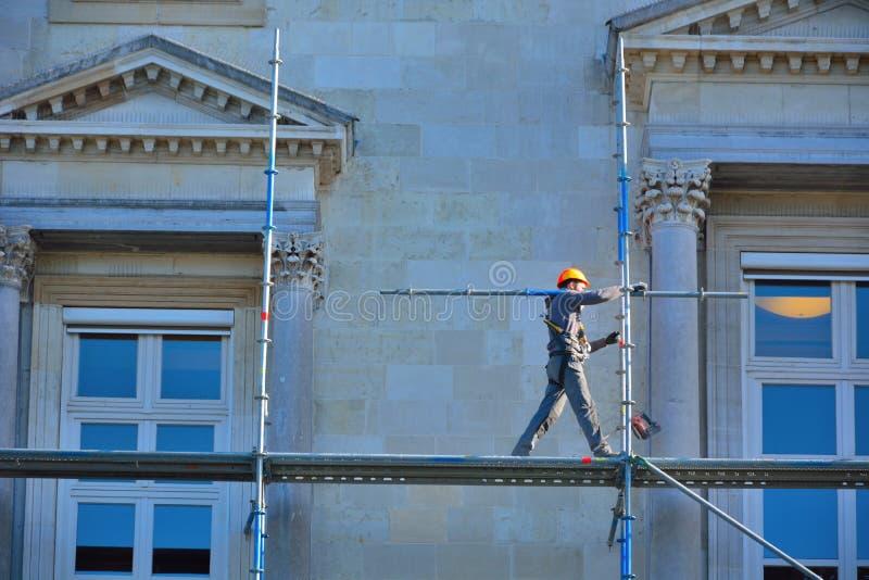 Szafotu pracownik przy jego pracą fotografia royalty free