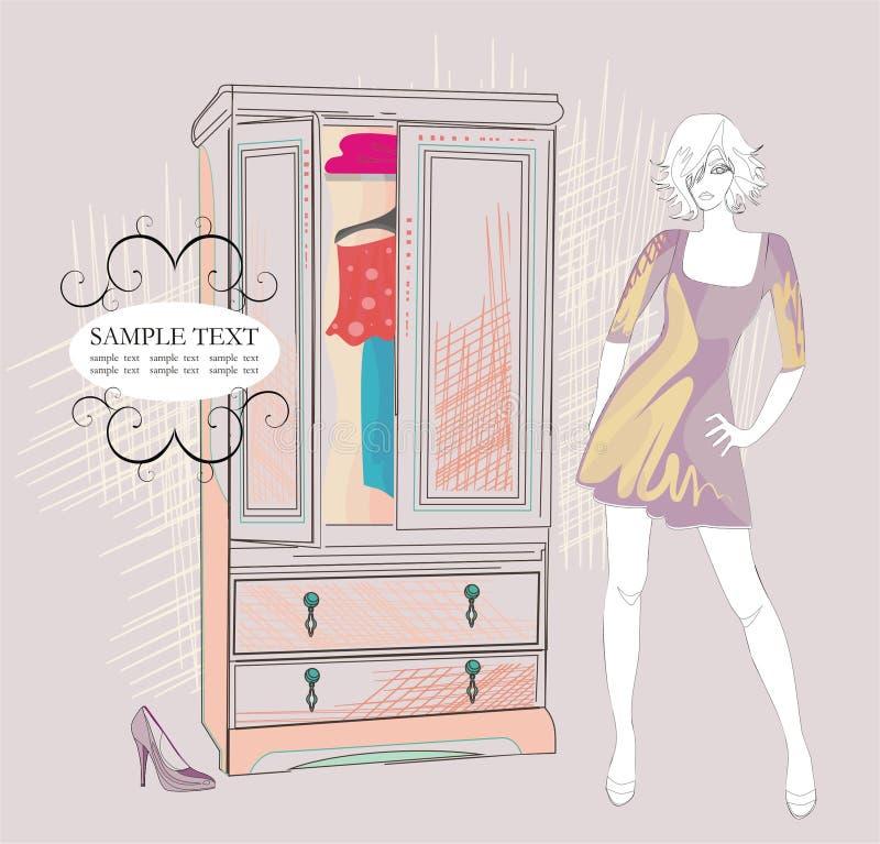 szafy mody dziewczyna ona obrazy royalty free