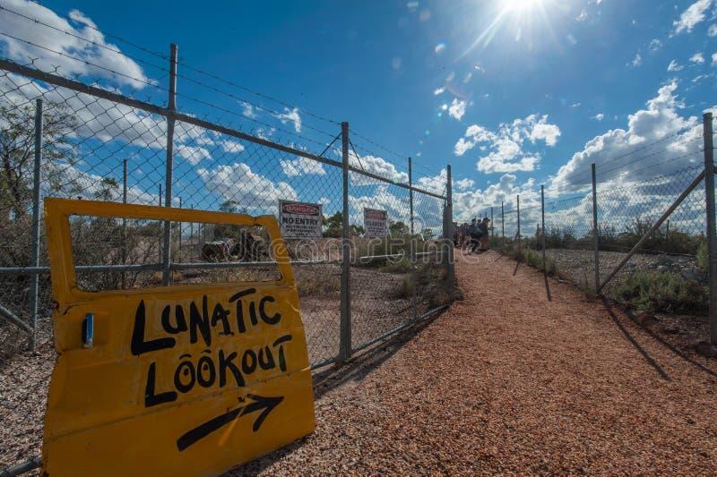Szaleńczy punkt obserwacyjny przy Błyskawicową granią Australia obrazy royalty free