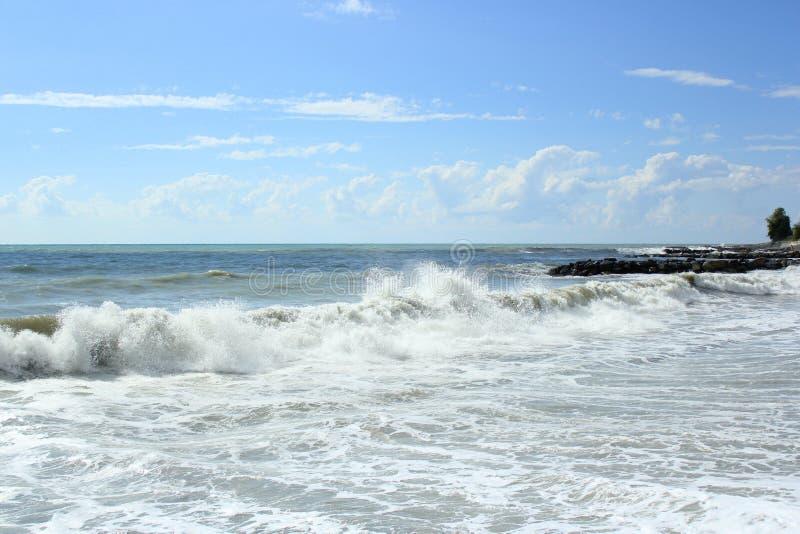 Szaleje na morzu w lato słonecznym dniu zdjęcie royalty free