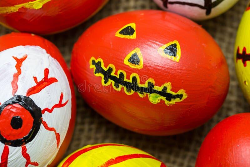 Szaleni jajko potwory dla Halloweenowy świątecznego obraz royalty free