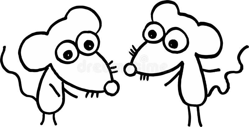 szaleni mali mouses ilustracja wektor