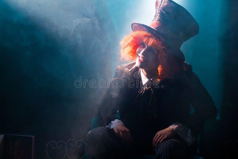 Szalenie hatter w promieniu światło zdjęcia stock