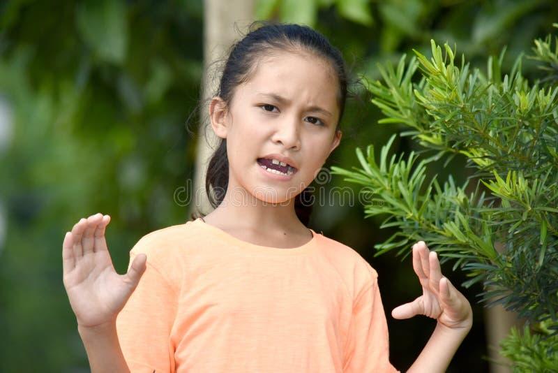 Szalenie Młodociana Azjatycka osoba zdjęcie royalty free