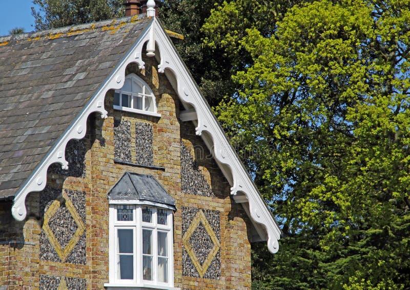Szaletu krzemienia kamienia architektura zdjęcie royalty free