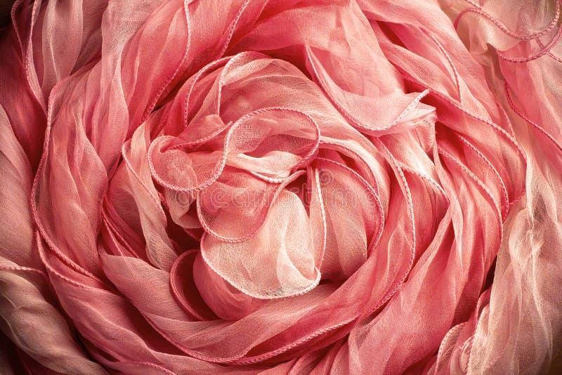 szalika różowy jedwab obraz stock