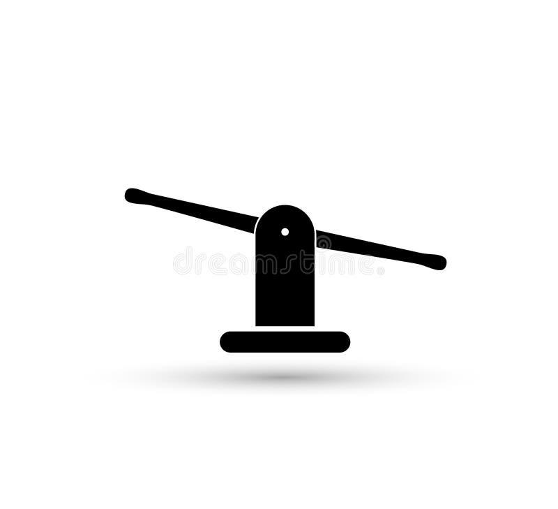 Szalkowa wektorowa seesaw ikona ciężar lub sprawiedliwość waży ilustrację ilustracja wektor