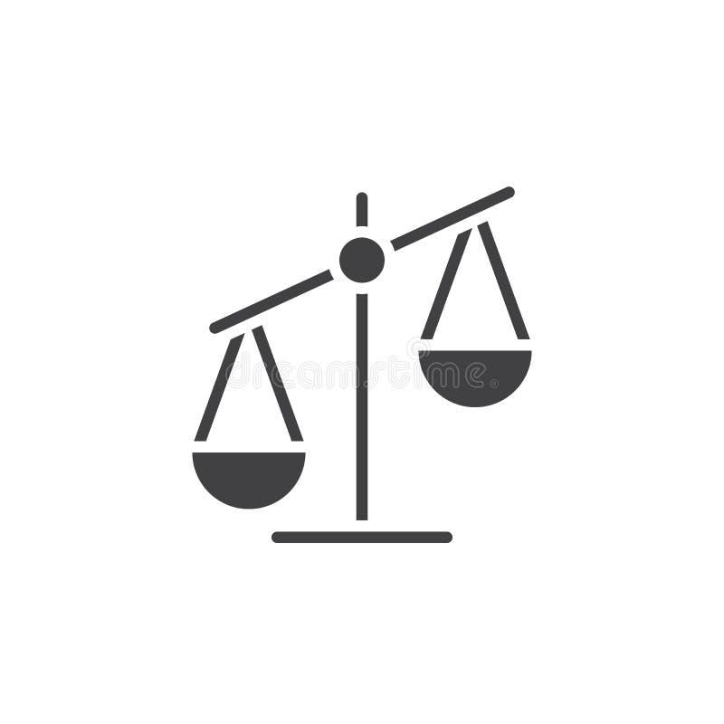 Szalkowy ikona wektor, libra stały logo, piktogram odizolowywający na bielu royalty ilustracja