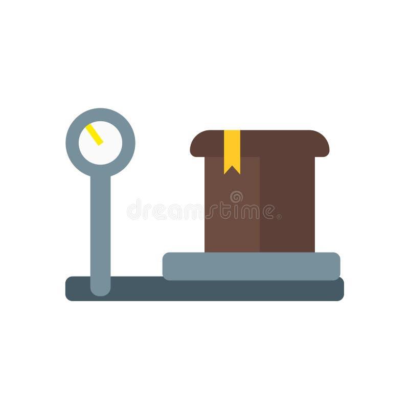 Szalkowy ikona wektor odizolowywający na białym tle, skala znak, doręczeniowi symbole ilustracji