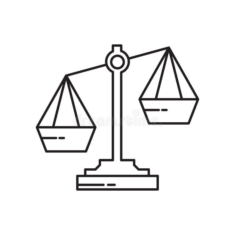 Szalkowy ikona wektoru znak i symbol odizolowywający na białym tle, Szalkowy logo pojęcie ilustracji