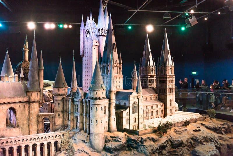 Szalkowy model Hogwarts Warner bracia pracowniani obraz royalty free