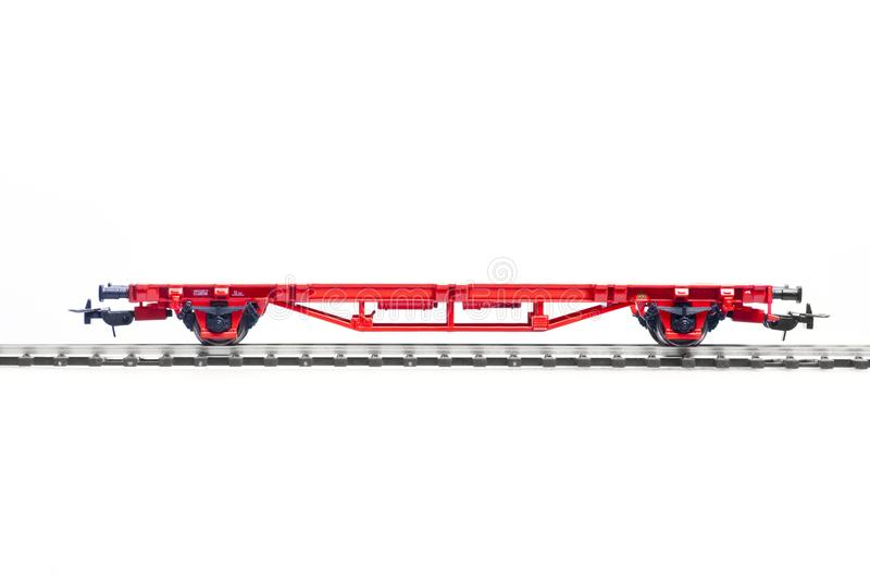 Szalkowy model zbiornika furgon fotografia stock