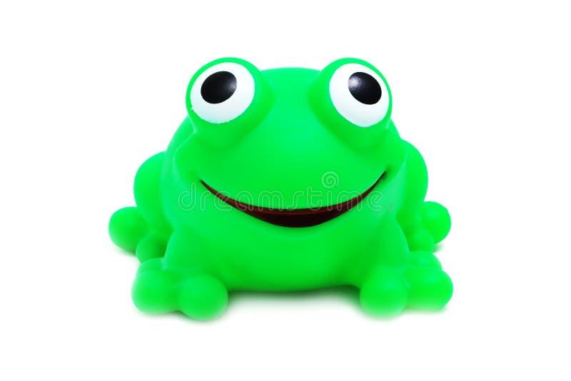 szalona żaba występować samodzielnie zabawka fotografia stock