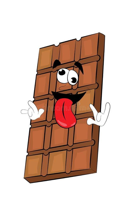 Szalona czekoladowa kreskówka ilustracja wektor