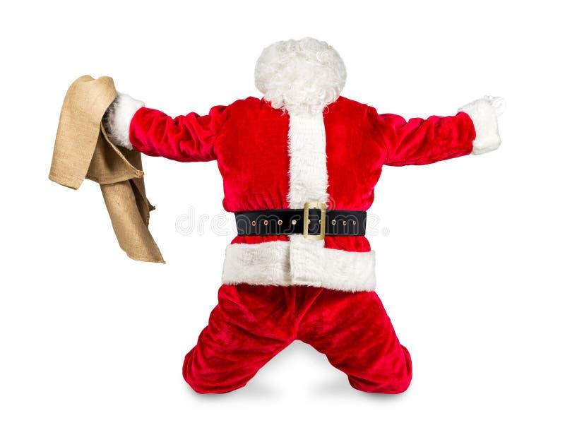 Szalona czerwona biała Santa Claus praca robić zdjęcia stock