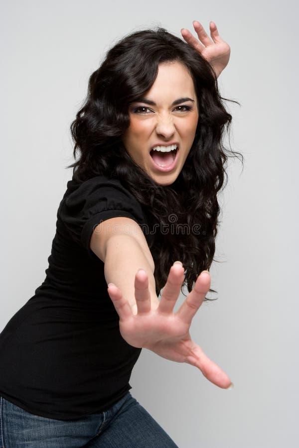 szalona kobieta zdjęcia stock