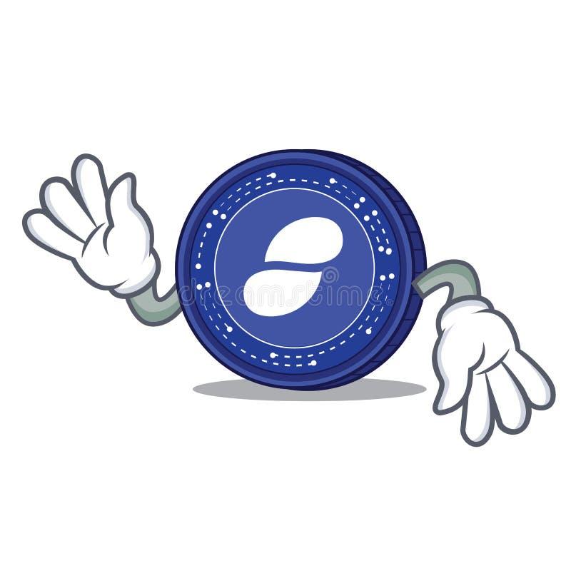 Szalona status monety maskotki kreskówka royalty ilustracja
