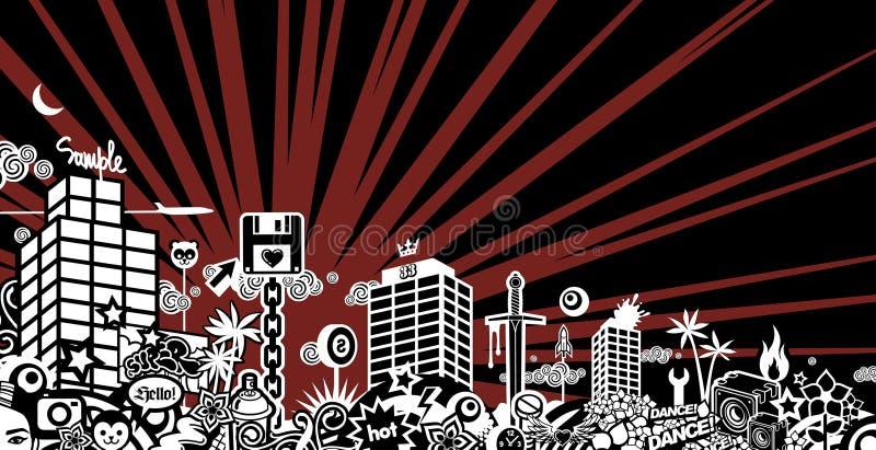 szalone miasto royalty ilustracja