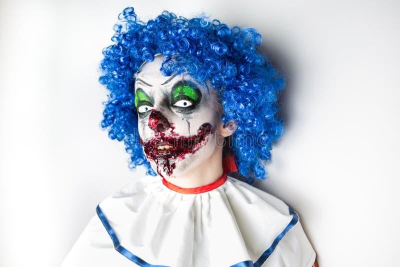 Szalonego brzydkiego grunge zły błazen Straszne profesjonalisty Halloween maski Halloween przyjęcie obraz stock