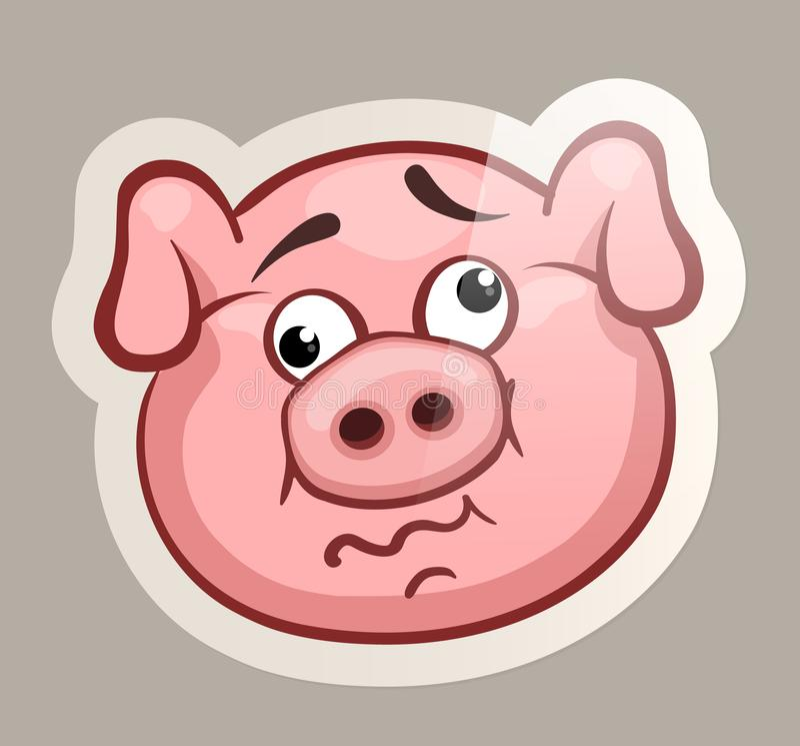 Szalony świniowaty majcher ilustracja wektor
