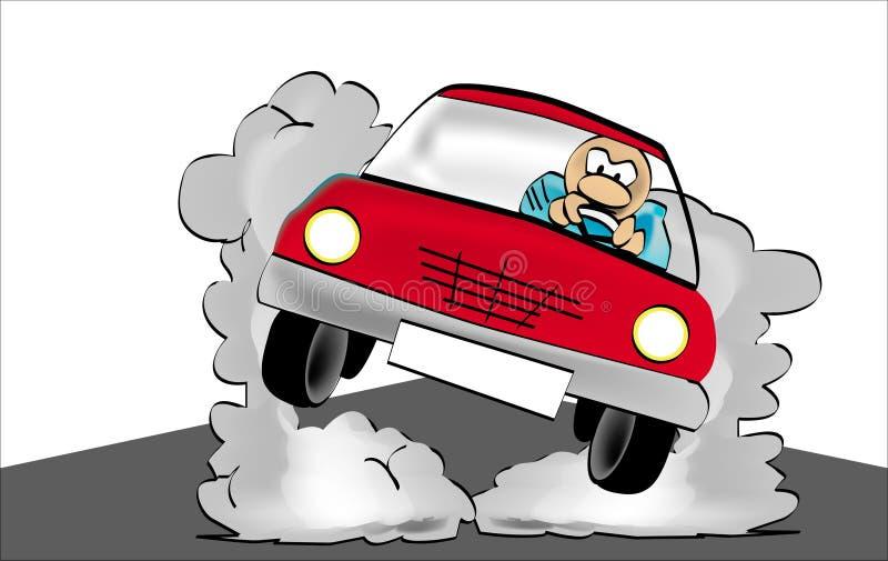 szalony kierowca ilustracji