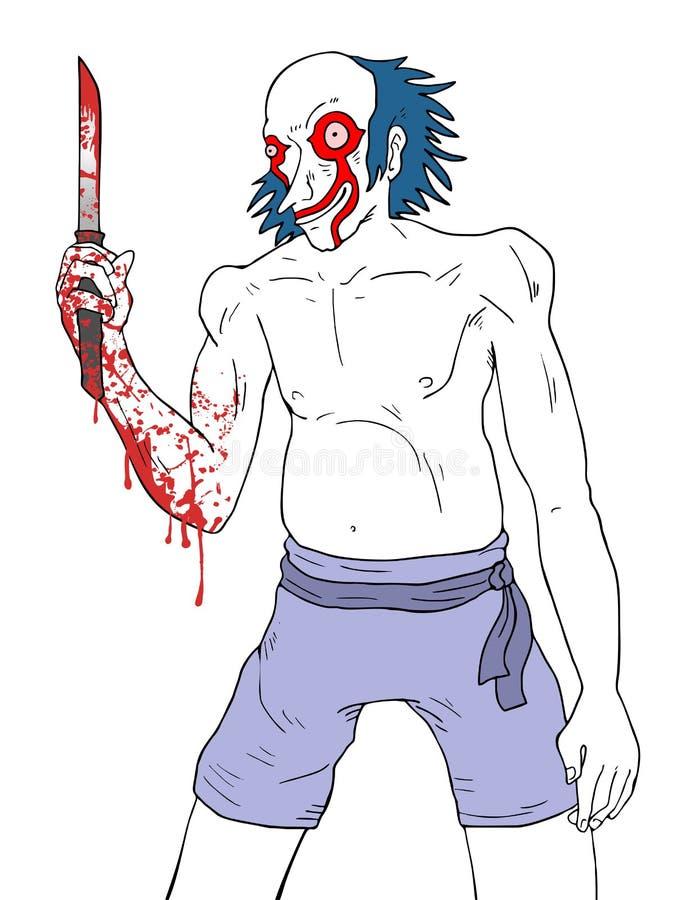 szalony klaun ilustracji