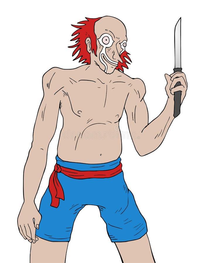 szalony klaun ilustracja wektor