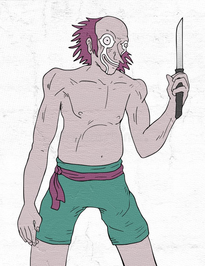 szalony klaun royalty ilustracja