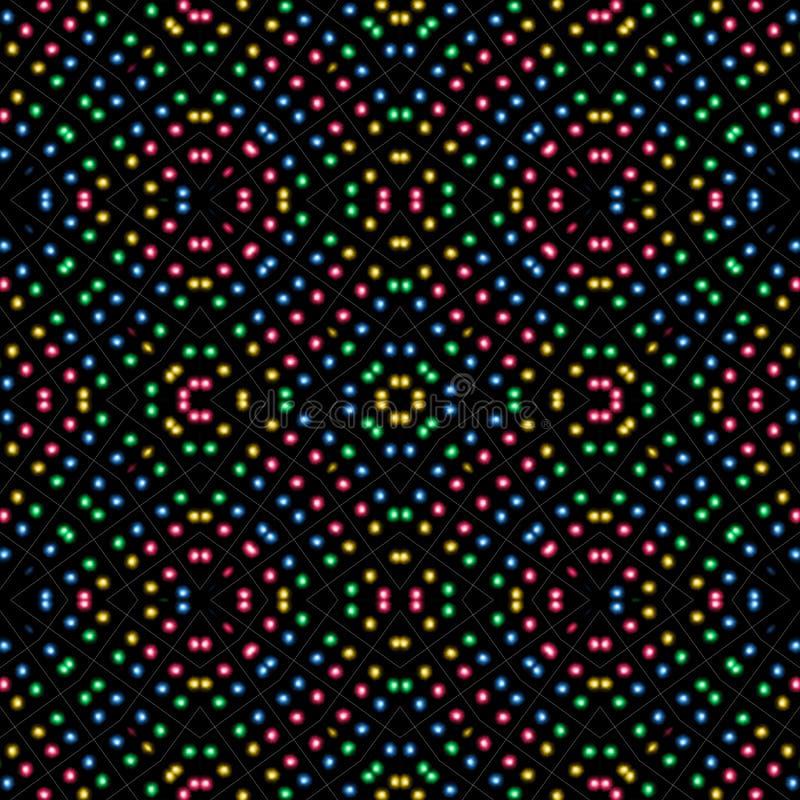 Szalony kolorowy bezszwowy tło royalty ilustracja