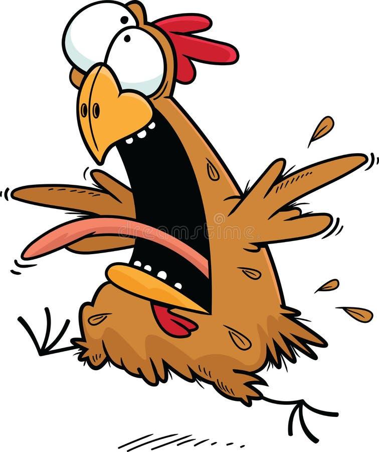 Szalony kurczak ilustracji