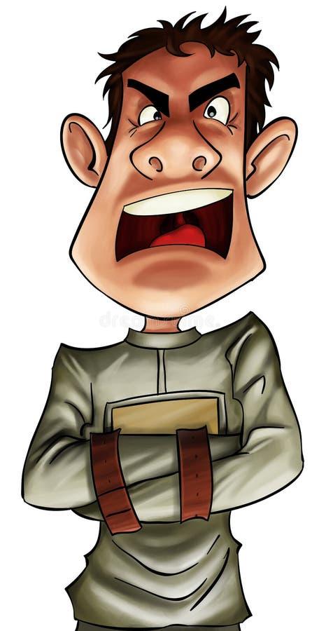 szalony mężczyzna ilustracja wektor