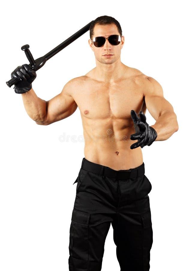 Szalony mięśniowy mężczyzna fotografia stock