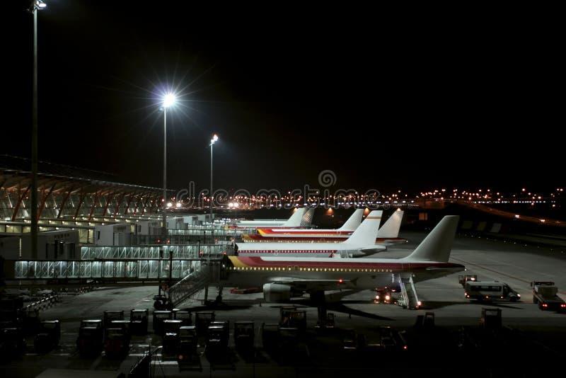 szalony międzynarodowego Barajas portów lotniczych Madryt obrazy royalty free