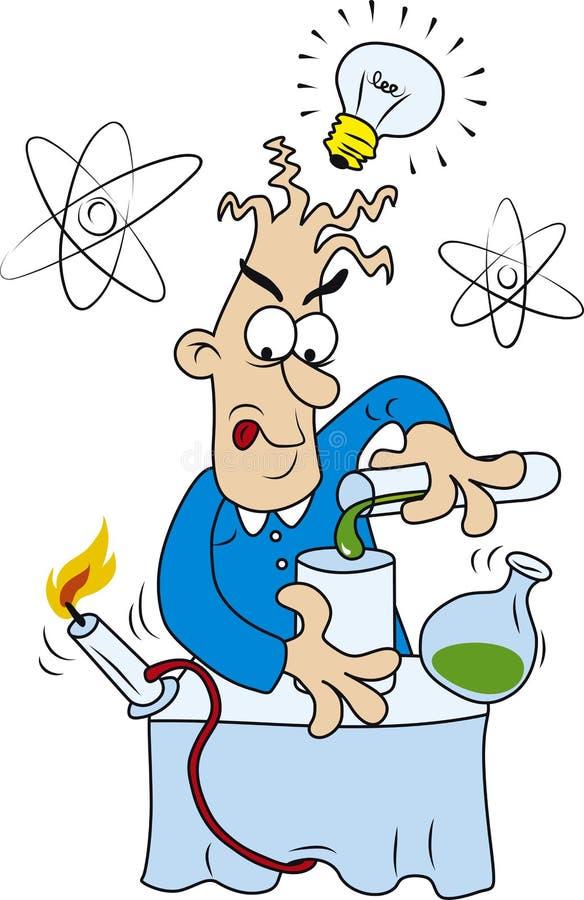szalony naukowiec ilustracja wektor