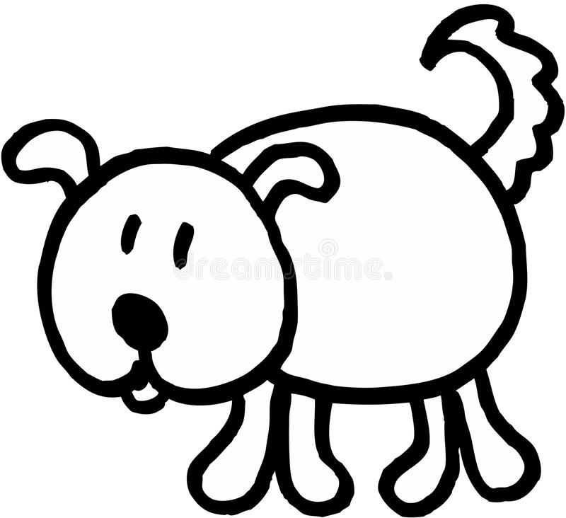 szalony pies royalty ilustracja