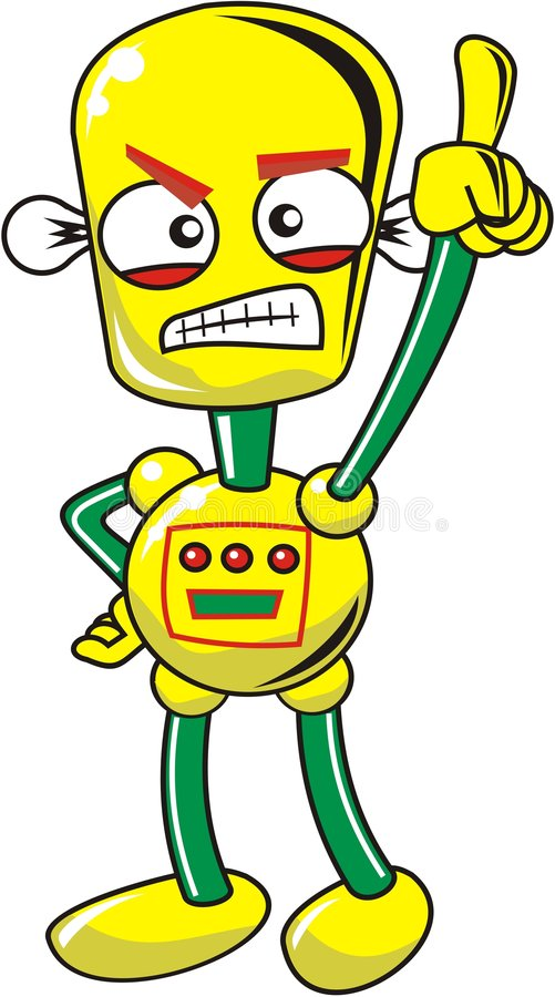 szalony robot royalty ilustracja