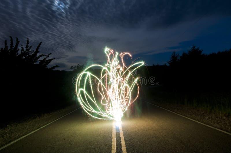 szalony ujawnienie tęsk sparkler fotografia stock