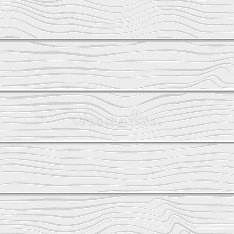Szalunku biały tło z pionowo deskami ilustracji