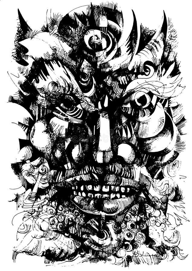 Szamanu królewiątko royalty ilustracja