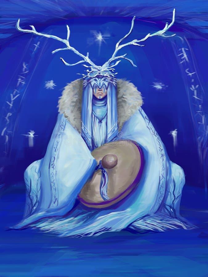 szamany ilustracja wektor