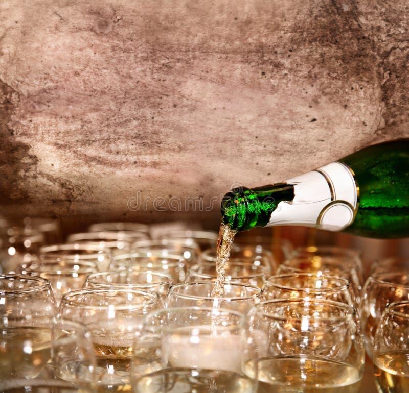szampańscy szkła zdjęcia royalty free