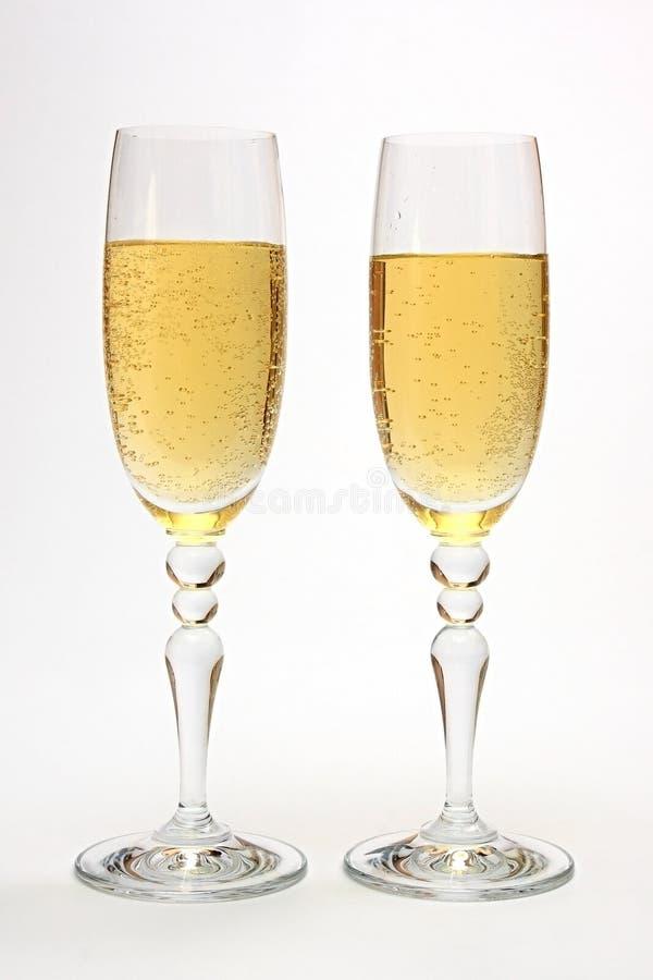 szampańscy szkła fotografia royalty free