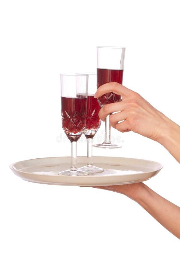 szampańscy szkła trzy obraz royalty free