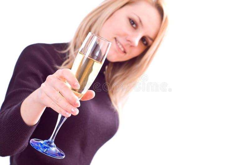 szampańska grzanka zdjęcie stock