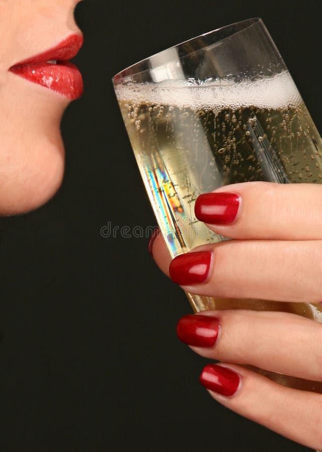szampański manicure fotografia stock
