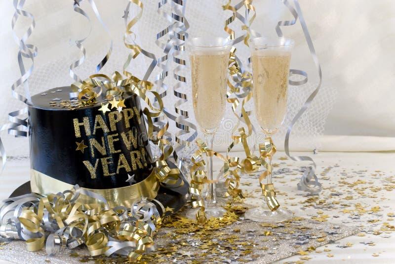 szampański nowy rok zdjęcia stock
